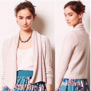 Anthro Knitted &Knotted Sequin Blush/Pink Cardigan